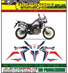 AFRICA TWIN CRF 1000 L 2016 WHITE BLUE RED