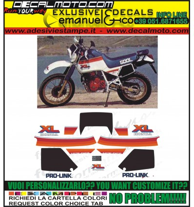 XL 600 LM 1985 MOTORE ROSSO PD04