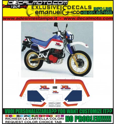 XL 600 LM 1986 MOTORE ROSSO