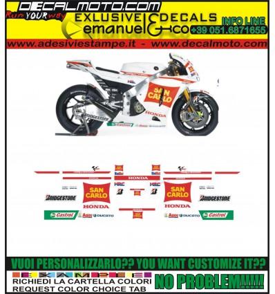 CBR REPLICA 600 1000 RR F TEAM GRESINI SAN CARLO 2011