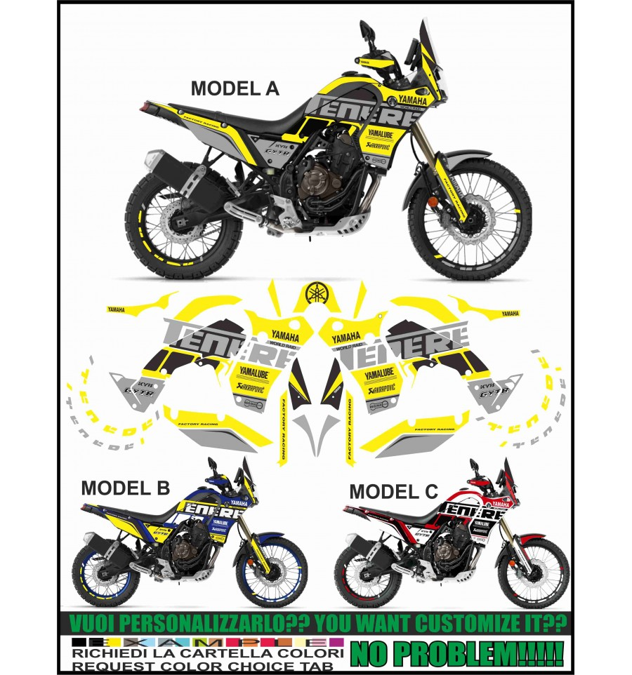 ability to customize the colors Kit adesivi decal stikers APRILIA DORSODURO 900 2018
