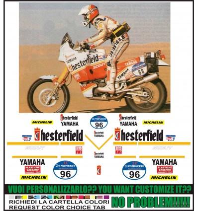 XT 750 Z SUPER TENERE REPLICA CHESTERFIELD PARIS DAKAR 1989