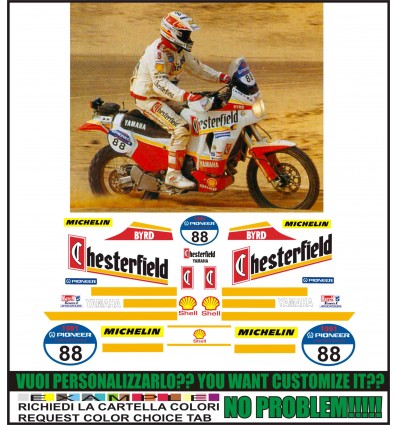 XT 750 Z SUPER TENERE REPLICA CHESTERFIELD PARIS DAKAR 1991