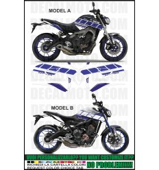 MT 09 / Fz 09 2013 - 2016 race blu race
