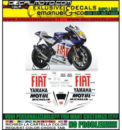 R1 R6 REPLICA MOTO GP M1 FIAT LORENZO ROSSI