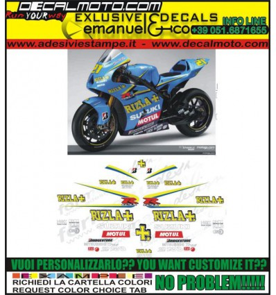 GSXR 600 750 1000 MOTO GP 2006 RIZLA